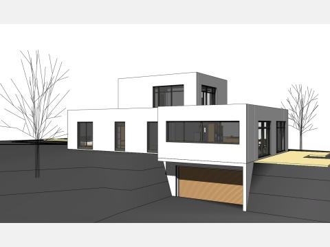 Architekturb ro j rg binzer projekte haustypen flachdach for Flachdach einfamilienhaus